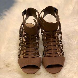 Vince Camuto Brown Peep Toe Shoe